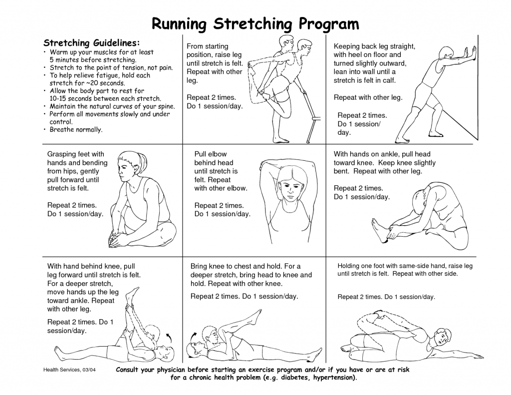 Stretching post running